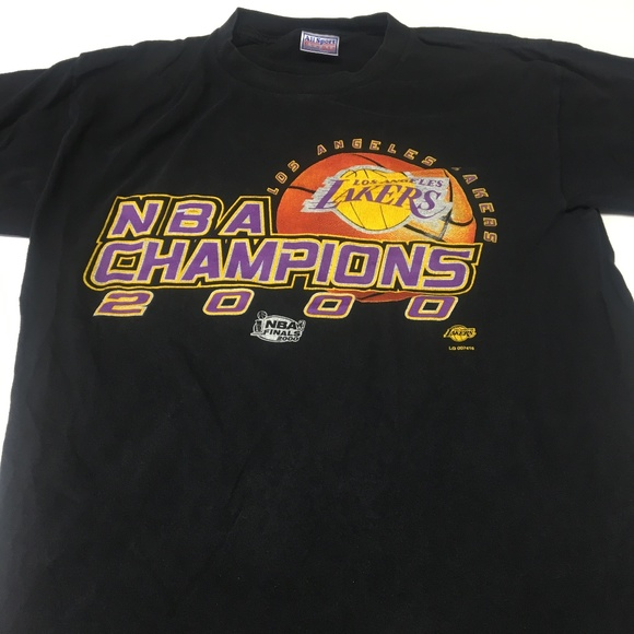 All Sport Events Other - NBA Champions 2000 LA Lakers T Shirt Vintage Tee L e62ba13b88